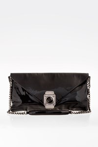 Céline Black Patent Leather Pochette with Chain