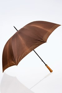 Louis Vuitton Brown Big Umbrella with Logo Trim