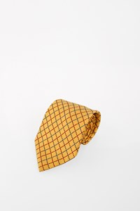 Hermès Yellow Silk Tie
