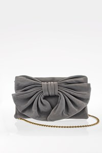 R.E.D. Valentino Grey Leather Shoulder Bag with Bow
