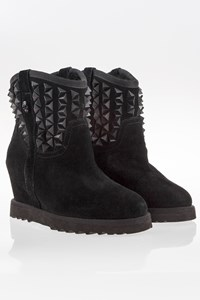 Ash Black Suede Booties with Studs / Size: 38 - Fit: 37.5