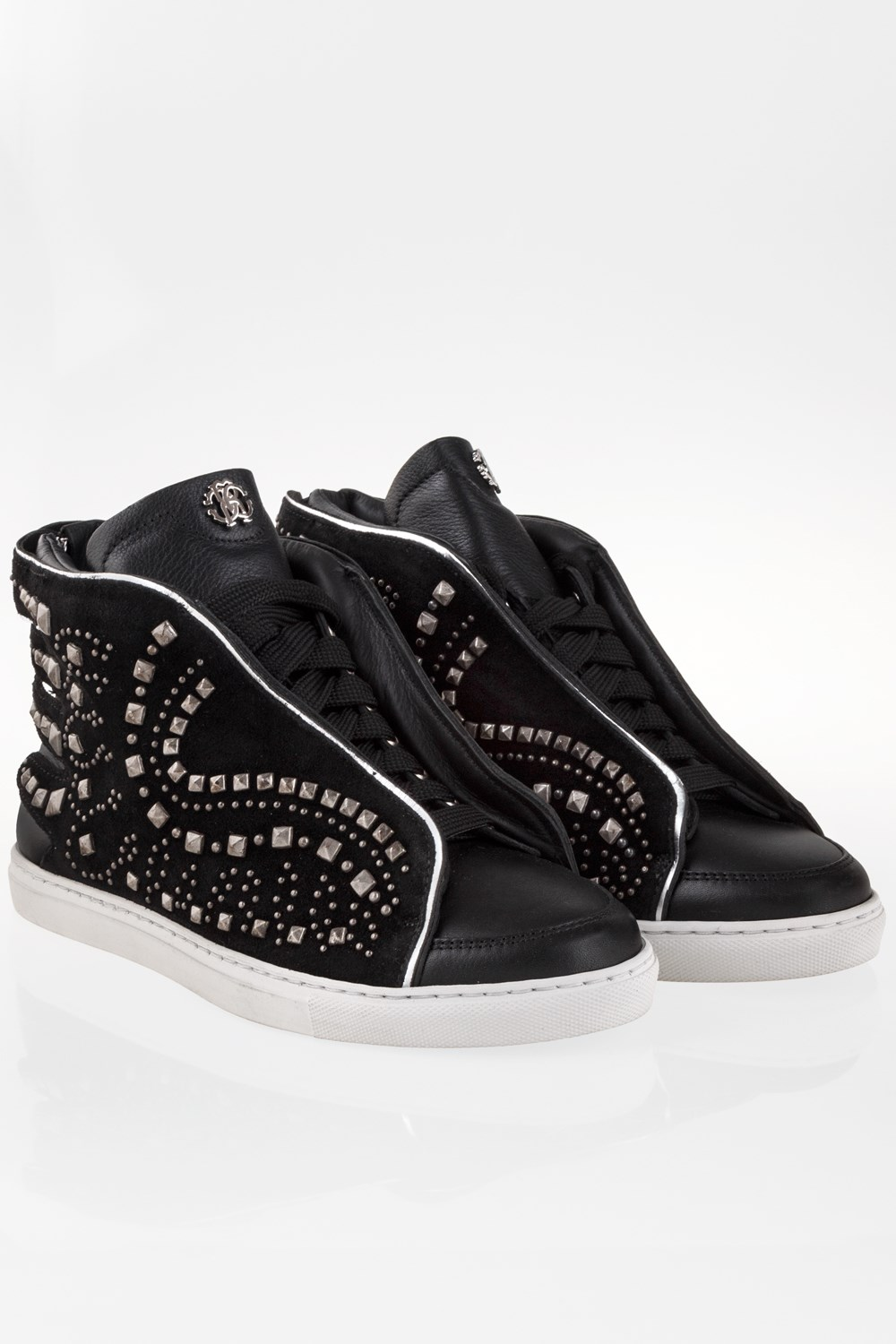 fa92edcd4e65bd Black Suede High Top Sneakers with Studs   Size  39 - Fit  True to ...