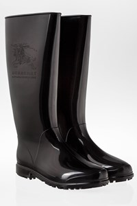 Burberry Black Emblem Wellington Boots / Size: 37 - Fit: True to size