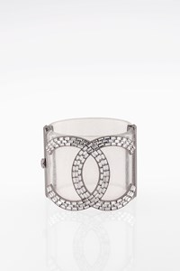 Chanel Stardust CC Resin and Crystal Bracelet