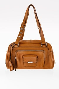 Tod's Camel Leather Tote Bag