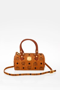 MCM Cognac Mini Boston Cross Body Bag