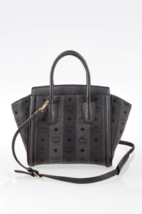 MCM Grey Strasse Visetos Tote Bag
