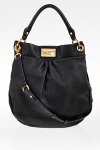 Marc By Marc Jacobs Black Leather Classic Q Huge Hillier Hobo Bag