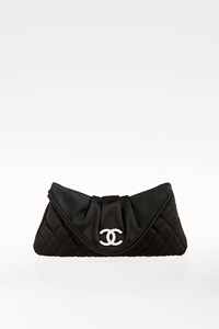 Chanel Half Moon Satin Clutch