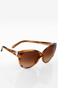 Tiffany & Co. TF4065-B Brown Acetate Sunglasses with Crystals