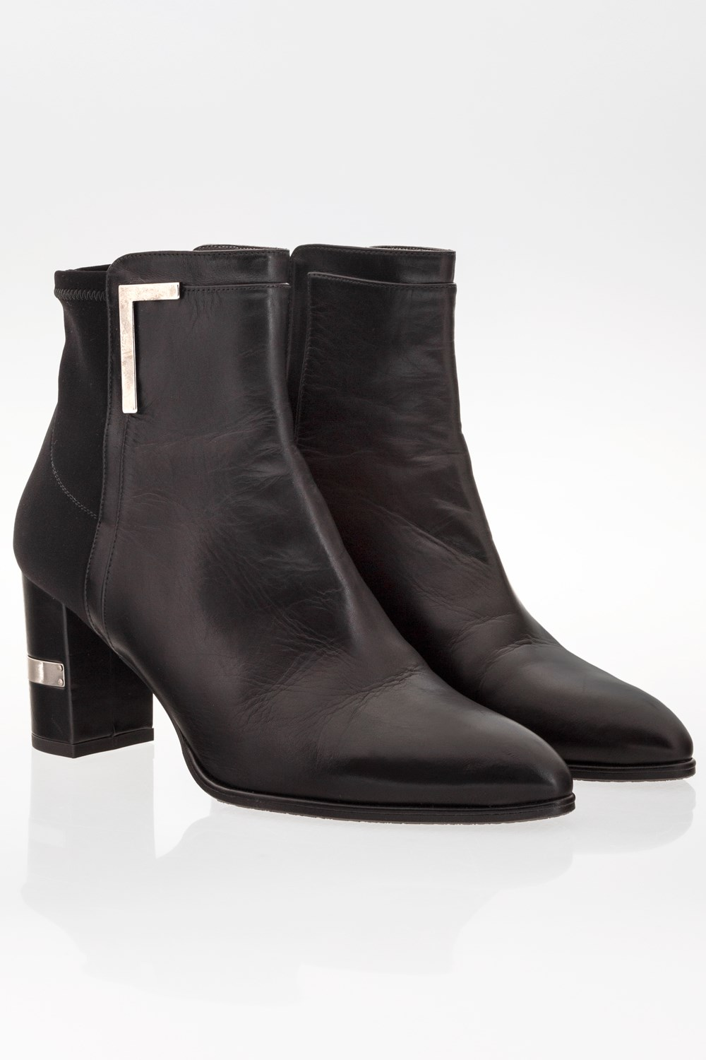 2a5becea Starbags Products, Shoes, Boots, Ankle boots, Black Leather Pointed Ankle  Boots / Size: 38.5 - Fit: 39 (Loose), Starbags.gr