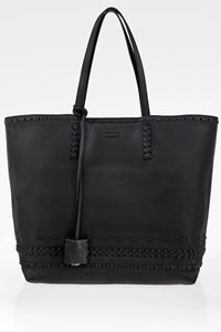 Tod's Black Leather Shopper Bag