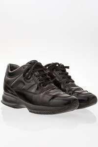 Hogan Black Interactive Patent Leather Sneakers / Size: 37- Fit: 38