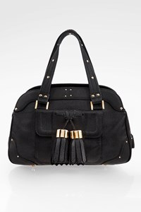 Luella Black Leather Tote Bag