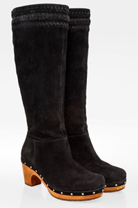 Ugg Black Suede Clog Boots / Size: 38 - Fit: True to size