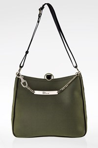 Dior Khaki/Black Canvas Hardcore Shoulder Bag