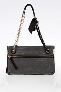 Lanvin Grey Amalia Quilted Shoulder Bag