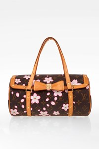 Louis Vuitton Brown Monogram Canvas Limited Edition Cherry Blossom Papillon Bag