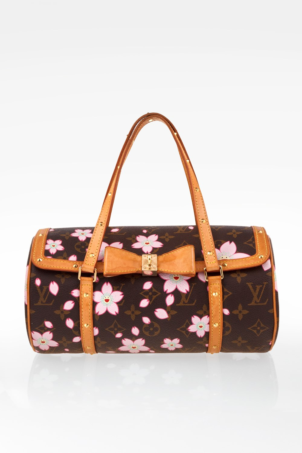 08f0609bc291 Brown Monogram Canvas Limited Edition Cherry Blossom Papillon Bag ...