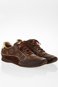 Louis Vuitton Brown Monogram Canvas Globe Trotter Sneakers / Size: 36.5 - Fit: True to size