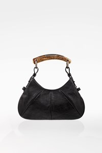 Yves Saint Laurent Black Leather Mini Mombasa Horn Bag