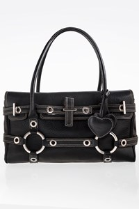 Luella Black Leather Gisele Tote Bag