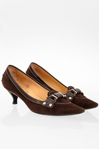 Tod's Brown Suede Pointed Pumps / Size: 38.5 - Fit: 39
