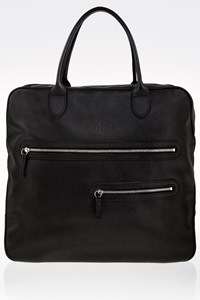 Longchamp Black Leather Tote Bag