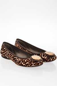 Hogan Leopard Printed Pony Hair Flat Ballerinas / Size: 38 - Fit: 39