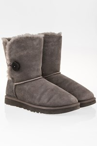 Ugg Grey Bailey Button 2 Boots / Size: 39 - Fit: 38.5