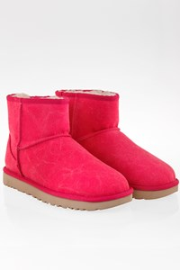 Ugg Pink W Classic Mini Canvas Booties / Size: 39 - Fit: 38.5