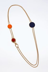 Céline Long Necklace with Enamel Stones