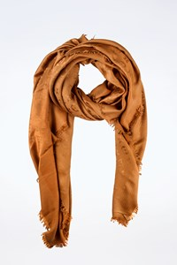 Louis Vuitton Bronze Monogram Silk Shine Shawl