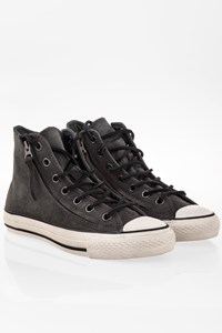 Converse All Star Grey Suede John Varvatos Chuck Taylor Sneakers / Size: 38 - Fit: 38.5