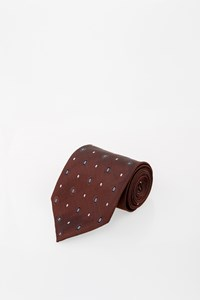 Boss Chocolate Brown Printed Tie