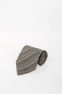Giorgio Armani Grey Printed Tie with Knit