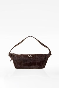 D&G Small Brown Snakeskin Bag