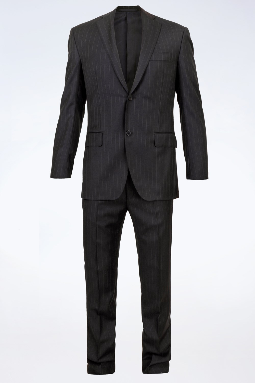 381784fe96db9c Blue Striped Cool Wool Suit / Size: 50 IT - Fit: M, Suits, Clothing ...