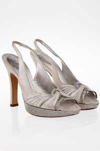 Rene Caovilla Crystal-Embellished Leather Sandals / Size: 37 - Fit: 36.5