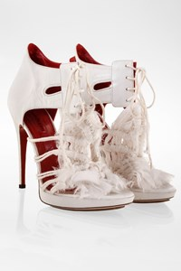 Cesare Paciotti White Leather Embellished Sandals / Size: 37 - Fit: True to size