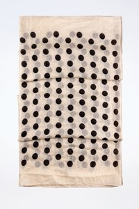 Marc By Marc Jacobs Ecru-Black Hot Polka Dot Scarf