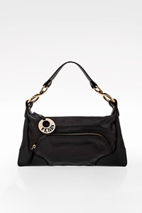 Fendi Black Leather Mini Shoulder Bag