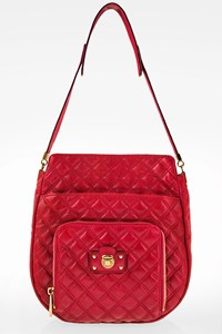 Marc Jacobs Fuchsia Pink Quilted Shoulder Bag
