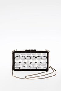 Frandami Black Resin Clutch with Crystals