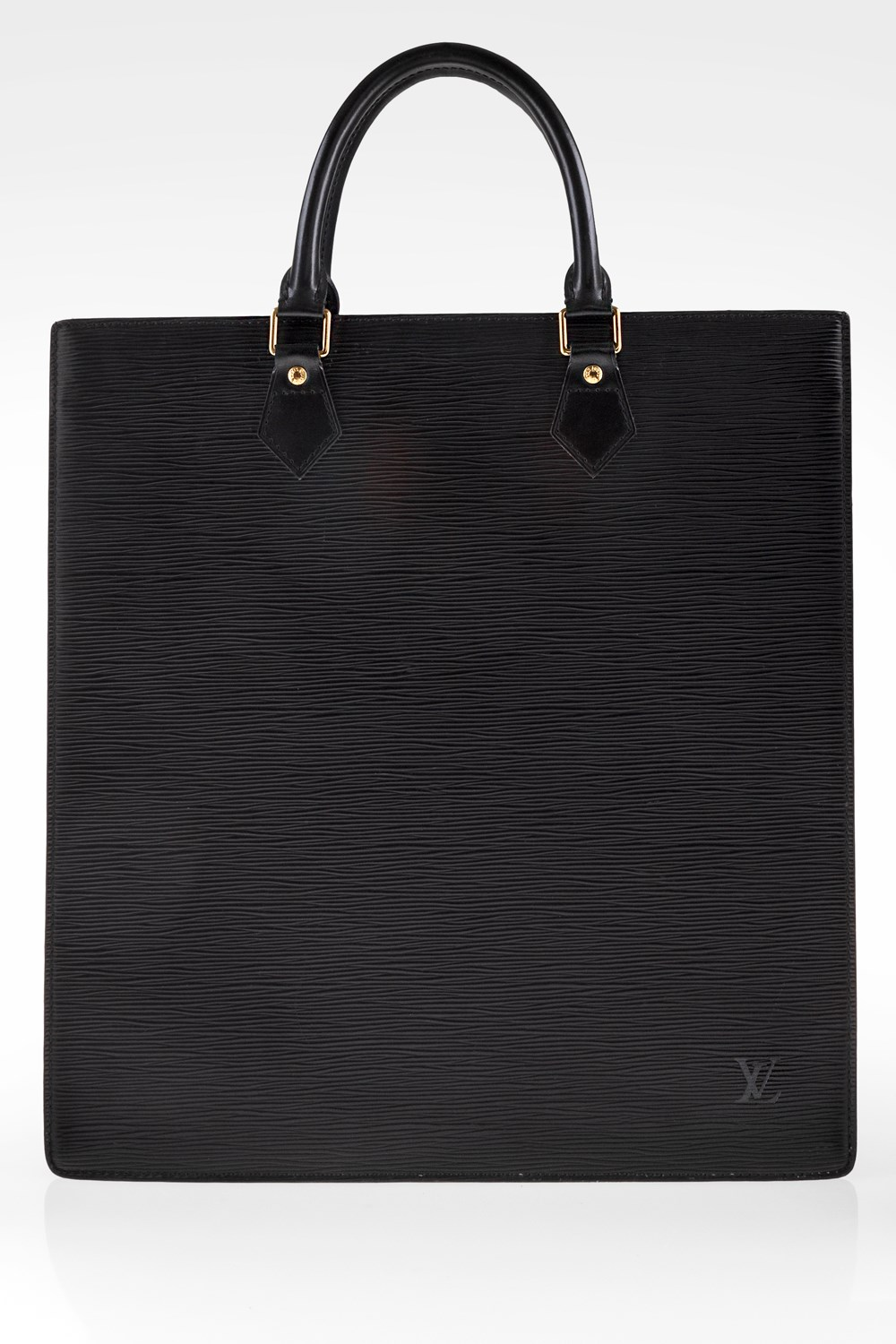 8ce74144cc1e ... Black Epi Leather Sac Plat GM Tote Bag. Mouse ...