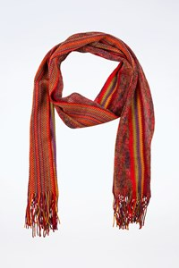 Missoni Multicoloured Wool Knitted Scarf with Fringes