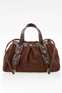 Emporio Armani Brown Leather Tote Bag