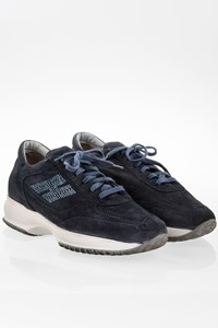 Hogan Blue Suede Interactive Sneakers with Crystals / Size: 39 - Fit: 40