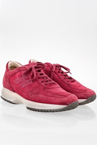 Hogan Fuchsia Suede Interactive Sneakers with Crystals / Size: 39 - Fit: 40