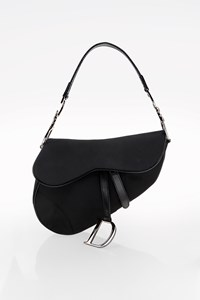 Dior Black Nylon Saddle Bag